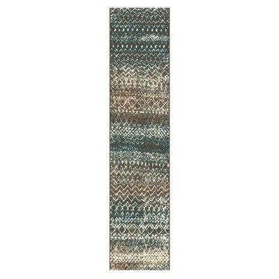 Hopkins Taupe/Ivory Area Rug Rug Size: Runner 27 x 8