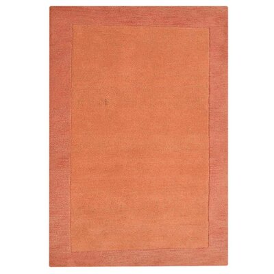 Jalisa Solid Hand-Tufted Wool Orange Area Rug Rug Size: 5 x 8