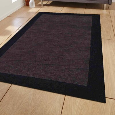 Kaylie Hand-Tufted Wool Charcoal/Black Area Rug Rug Size: 8 x 10