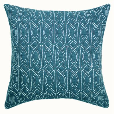 Antonina Quilted Throw Pillow Color: Baltic Blue
