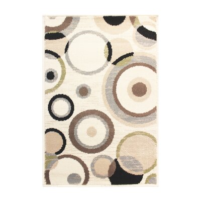 Bryleigh Cream/Black Area Rug Rug Size: Rectangle 4 x 6