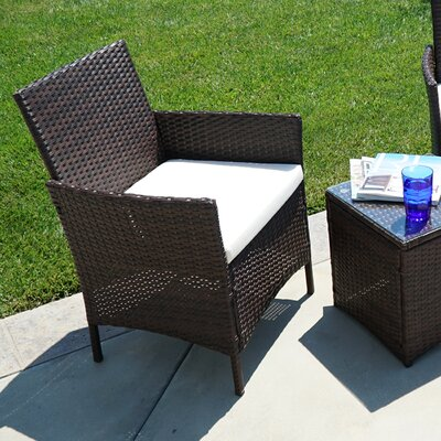 Kendal 3 Piece Patio Deep Seating Seating Group with Cushion