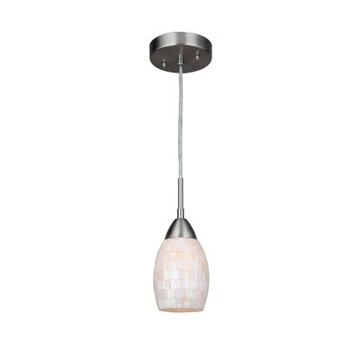 Murphy 1-Light Elliptical Mini Pendant Finish: Satin Nickel