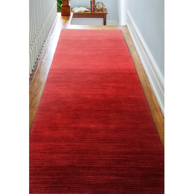 Stokes Hand-Woven Wool Red Area Rug Rug Size: 8 x 10