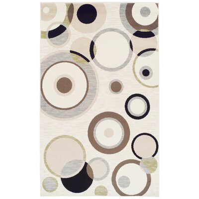 Yates Cream/Black Area Rug Rug Size: 5 x 8