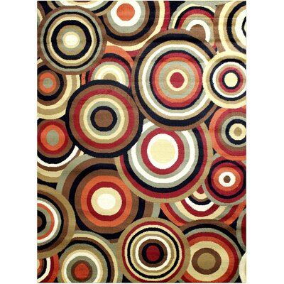 Darcelle Geometric Red/Brown Area Rug Rug Size: Rectangle 5 x 8
