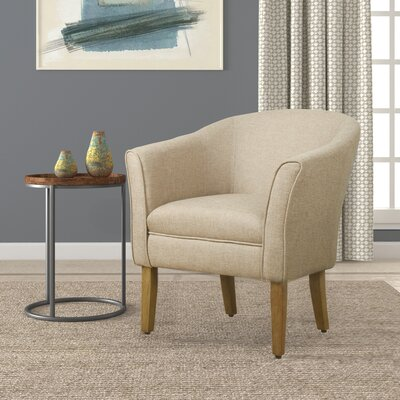 Church Barrel Chair Upholstery: Flax Brown