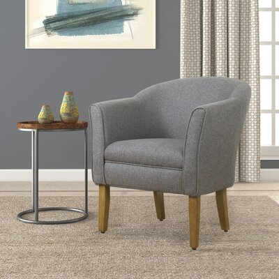 Church Barrel Arm Chair Color: Charcoal