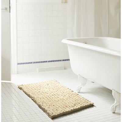 Diondre High Pile Chenille Bath Mat Size: 24 W x 17 L, Color: Beige