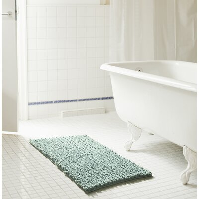 Diondre High Pile Chenille Bath Mat Size: 24 W x 17 L, Color: Blue