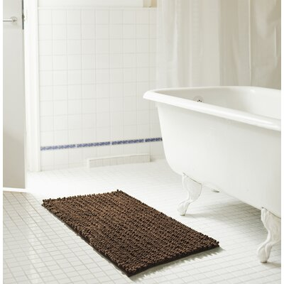 Diondre High Pile Chenille Bath Mat Size: 32 W x 20 L, Color: Chocolate