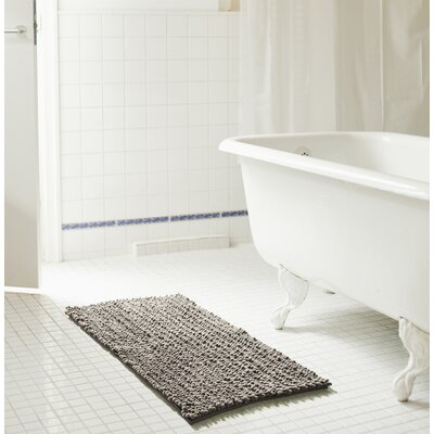 Diondre High Pile Chenille Bath Rug Size: 24 W x 17 L, Color: Gray