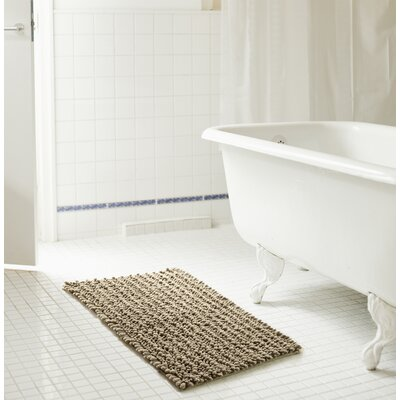 Diondre High Pile Chenille Bath Rug Size: 32 W x 20 L, Color: Taupe