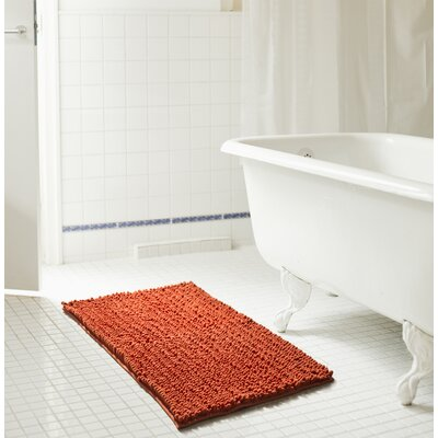 Diondre High Pile Chenille Bath Rug Size: 24 W x 17 L, Color: Terracotta