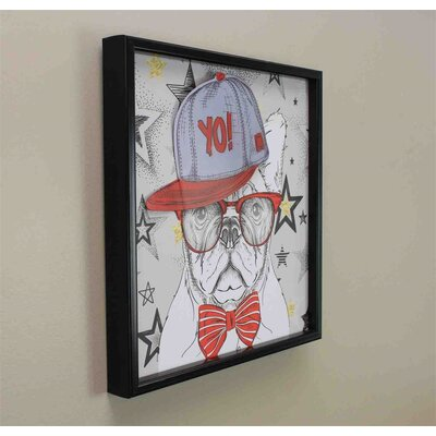 'Yo Dog' Framed Graphic Art Print on Canvas