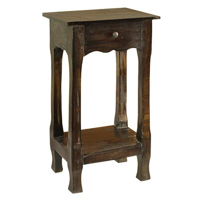 Adjei 1 Drawer Nightstand Color: Brown