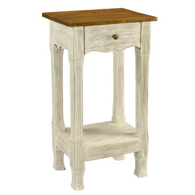 Adjei 1 Drawer Nightstand Color: White