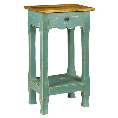 Adjei 1 Drawer Nightstand Color: Blue