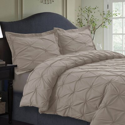 Cabrales Duvet Set Size: King, Color: Cashmere