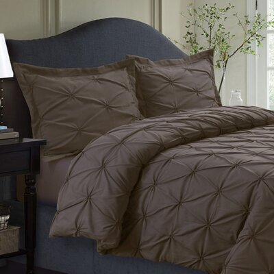 Cabrales Duvet Set Size: Twin, Color: Chocolate