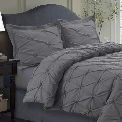 Cabrales Duvet Set Size: Twin, Color: Gray
