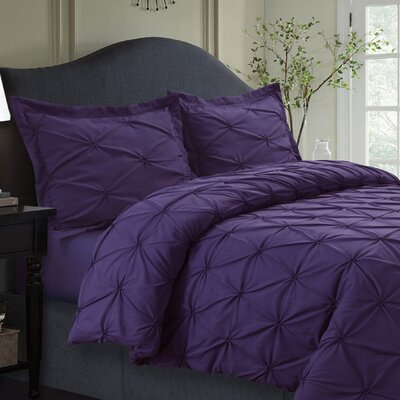 Cabrales Duvet Set Size: King, Color: Purple
