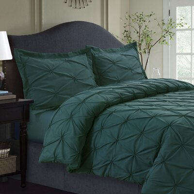 Cabrales Duvet Set Size: King, Color: Teal