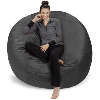 Bean Bag Chair Upholstery: Grey