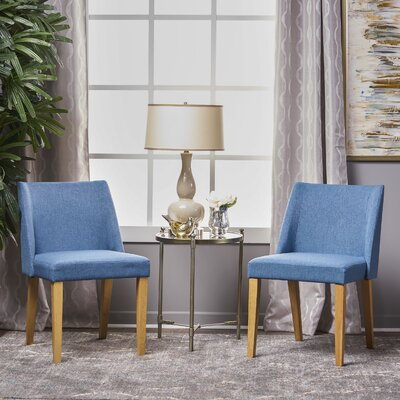 Aine Fabric Side Chair Upholstery: Blue