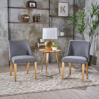 Aine Fabric Side Chair Upholstery: Charcoal