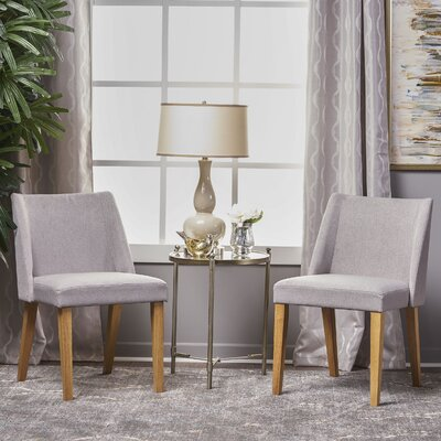 Aine Fabric Side Chair Upholstery: Light Gray