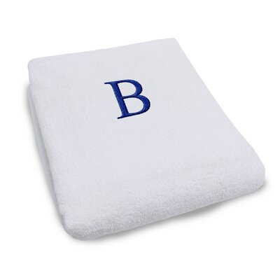 Superior Monogrammed Lounge Chair Cover Letter: B