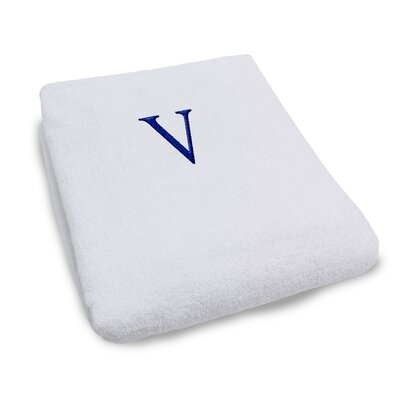 Superior Monogrammed Lounge Chair Cover Letter: V