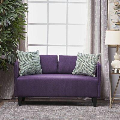 Dempsey Fabric Loveseat Upholstery: Dark Purple