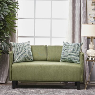 Dempsey Fabric Loveseat Upholstery: Moss
