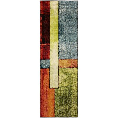 Wagner Soft Yellow/Orange Area Rug Rug Size: Runner 27 x 8