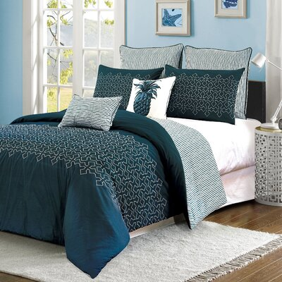 Ali 7 Piece Comforter Set Size: King