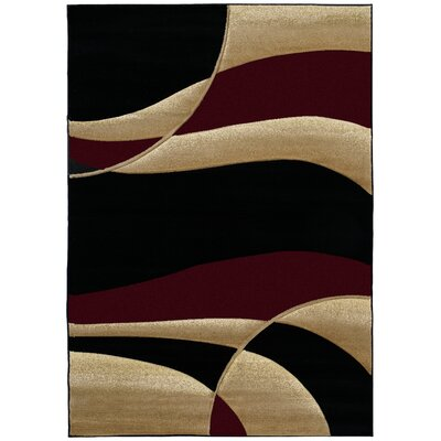 Havana Burgundy Area Rug Rug Size: Rectangle 53 x 76