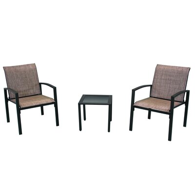 Campos 3 Piece Dining Set Finish: Brown