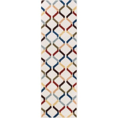 Burgess Moroccan Trellis White Modern Area Rug Rug Size: Runner 23 x 73