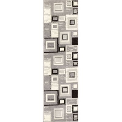Ayala Gray/Cream Area Rug Rug Size: Runner 2 x 72