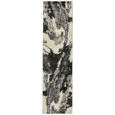 Deray River Gray/Beige Indoor/Outdoor Area Rug Rug Size: Runner 111 x 76
