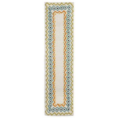 Bahri Pastel Border Indoor/Outdoor Area Rug Rug Size: Runner 2 x 8