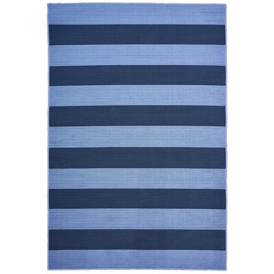 Deverick Stripe Blue/Navy Indoor/Outdoor Area Rug Rug Size: 67 x 96