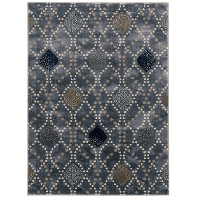Fulop Modern Gray Area Rug Rug Size: Rectangle 53 x 73