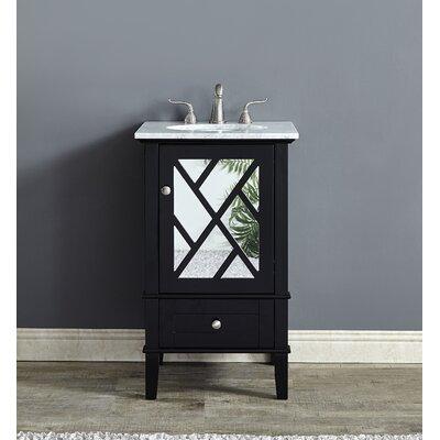 Koepke 21 Single Bathroom Vanity Set Base Finish: Black
