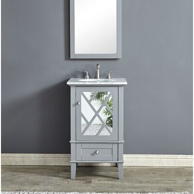 Koepke 21 Single Bathroom Vanity Set Base Finish: Gray