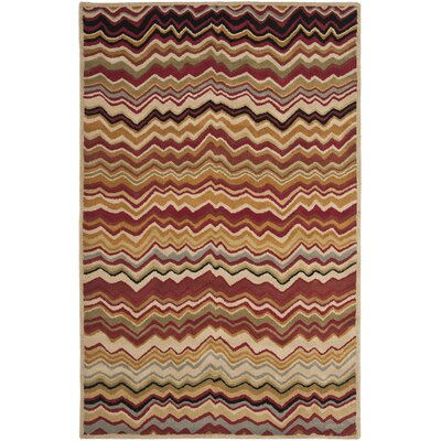 Tanner Red / Multi Rug Rug Size: Rectangle 5 x 8