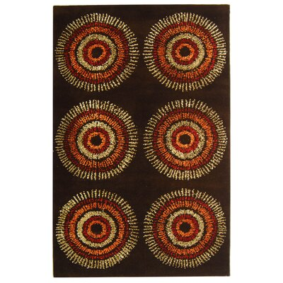 Chidi Brown/Gold Area Rug Rug Size: Rectangle 5 x 8