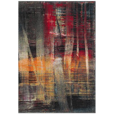 Charis Multi-Colored Area Rug Rug Size: Rectangle 53 x 76